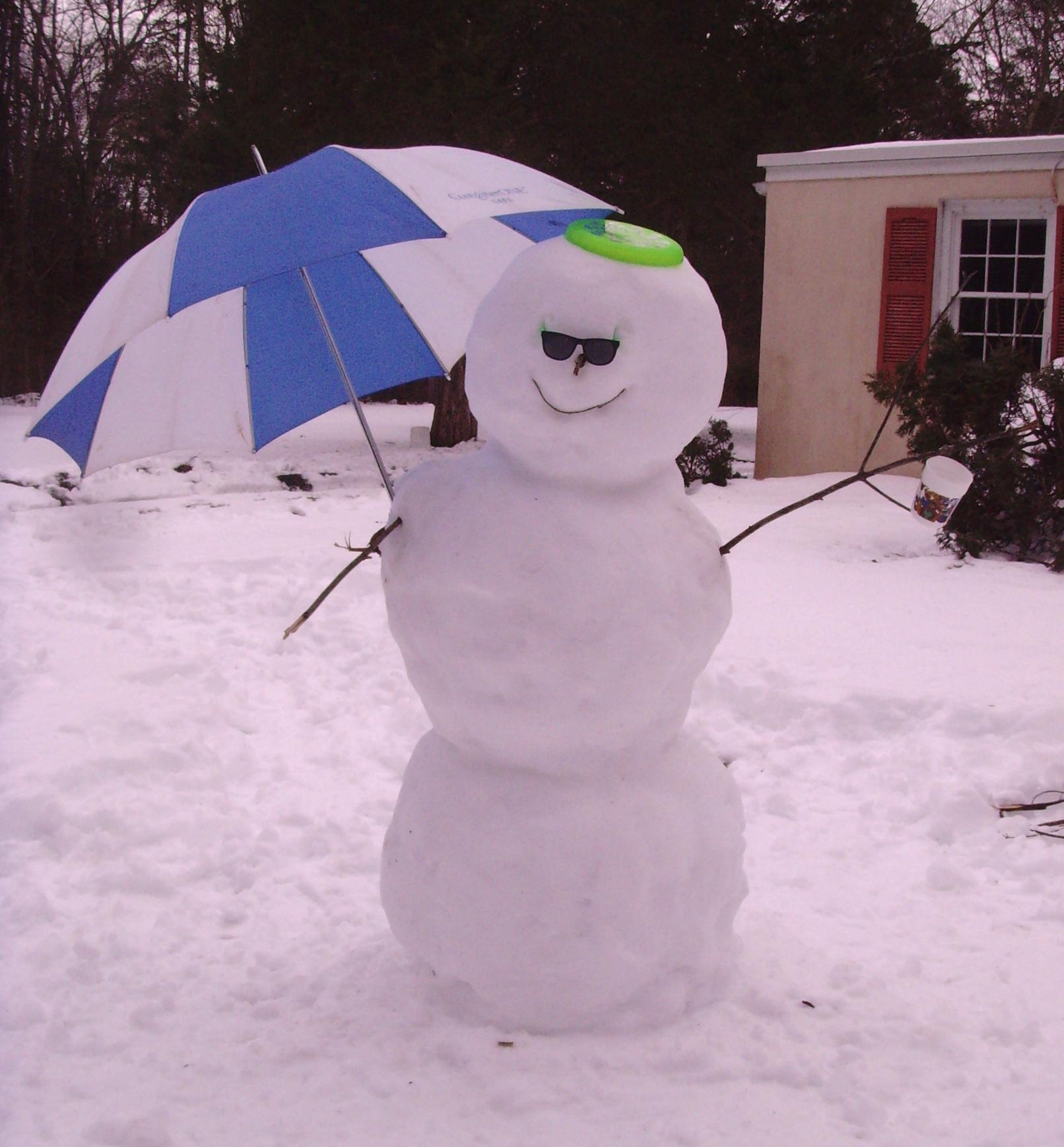 My snowman creation.