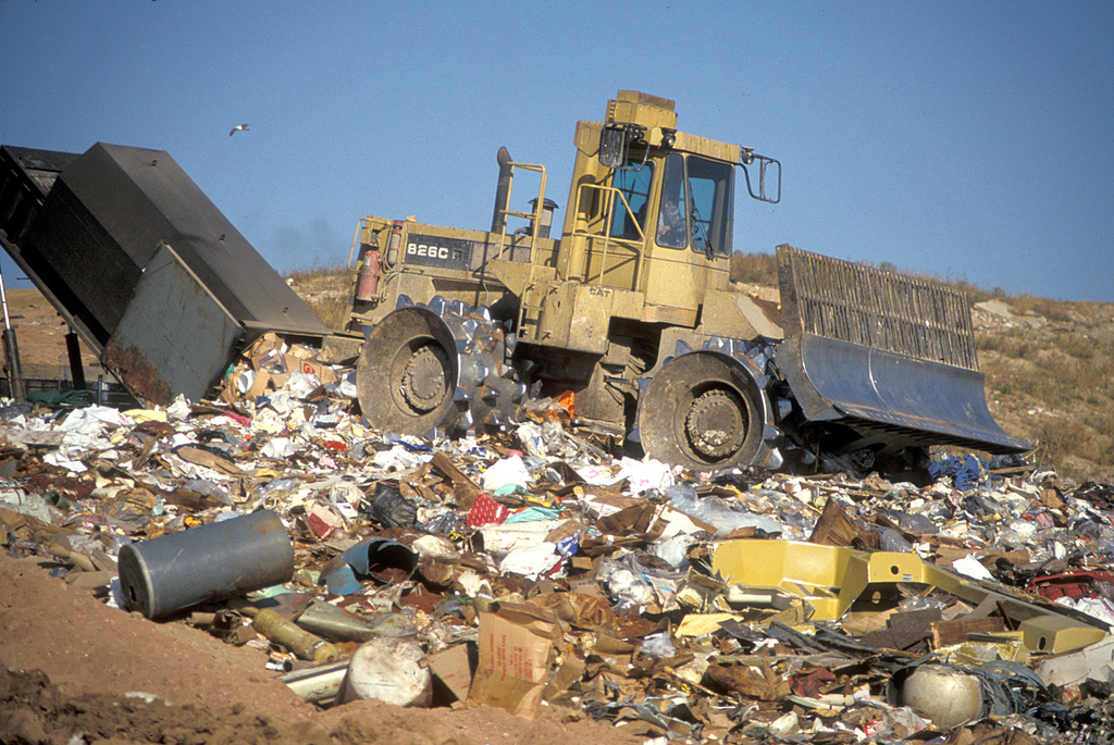 A Wisconsin landfill. Photo courtesy of Wisconsin Dept. of Natural Resources under a Creative Commons License